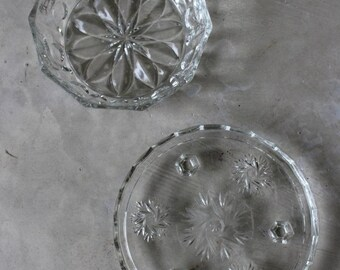 Glass Cake Stand & Salad Bowl