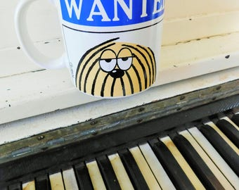 "1979, Ask Shagg, ""WANTED"", Ceramic, Coffee Mug, Made in Japan, Designed by GUREN for R. Dakin & Co."