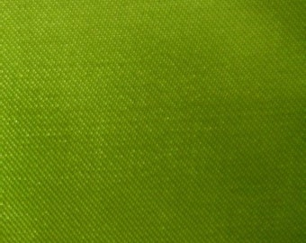 "Neon Green Polyester Satin Fabric 60"" Wide Per Yard"