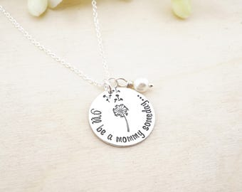 I'll be a mommy someday - infertility necklace - infertility gift - dandelion wish necklace