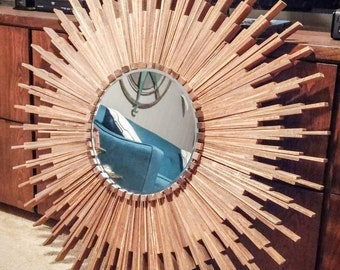 """Large Sunburst Mirror (appx 36"""" diameter)"""