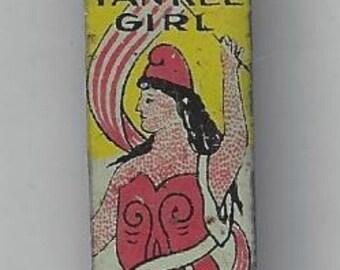 Yankee Girl Vintage Tobacco Tag, 1940s