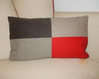 Decorative pillow cover grey kidneys III wedge