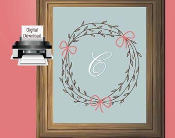 Printable Letter C Monogram