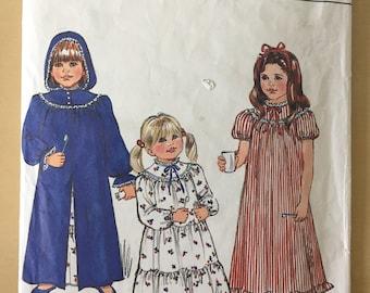 Butterick #4675 - Sizes 2-6 Children's Robe & Nightgown Pattern