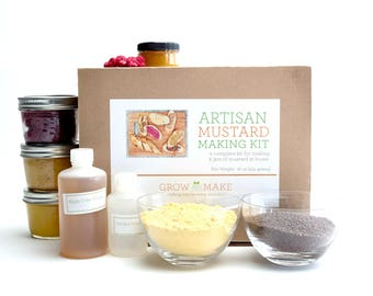 Artisan DIY Mustard Making Kit - Learn how to make 3 kinds of home made mustards