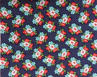 Daysail Blooms navy Bonnie & Camille moda fabric FQ or more OOP Htf