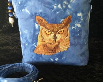 Owl in Blue