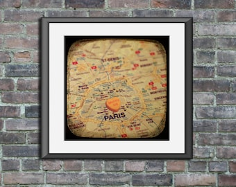 marry me paris custom candy heart map art ttv unframed photo print wedding engagement anniversary gift wall decor