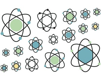 Atomic Symbol Vinyl Sticker Sheet Of 17 #47456