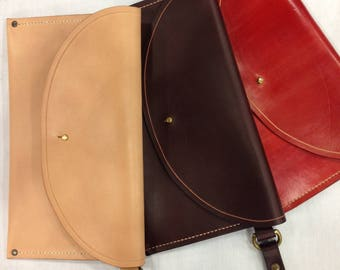 Handmade Vegetable Tanned Leather Clutch