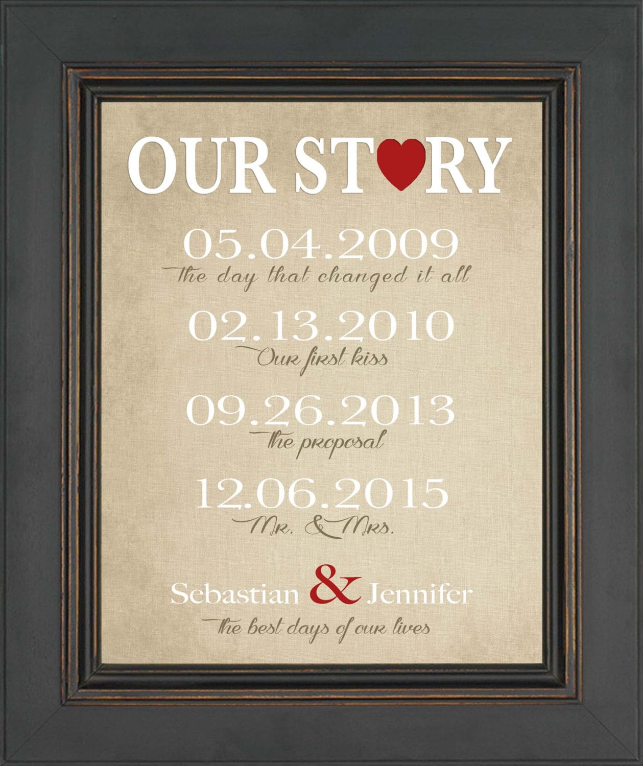 First Anniversary Gift For Husband Or Wife Wedding