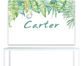 DIGITAL FILE Safari Tropical Backdrop Banner,  Jungle Backdrop, Tropical Decoration, First Birthday Backdrop, 60x40 inch