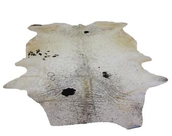 Glacier Wear Longhorn Cow Hide Leather Hair-On Rug #072
