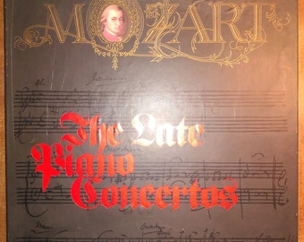 Wolfgang Amadeus Mozart - The Late Piano Concertos STL-M01 Vinyl Record 5LP 1973