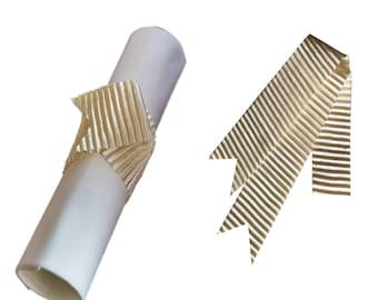 Napkin Wraps, Wedding Napkin Wraps, Ribbon Napkin Wraps, - PACK OF 20