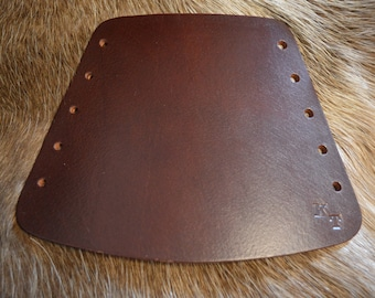 Plain brown/black arm guard/Bracer