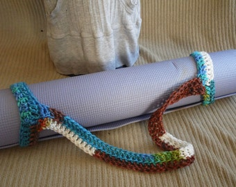 Yoga Mat Sturdy Sling Handle - US Shipping Included -Peruvian Print