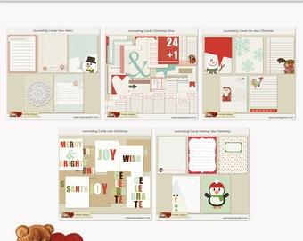 Journaling stampabile vendita carte Natale Bundle DOWNLOAD immediato progetto vita
