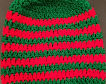 Green and Red Beanie