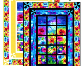 Window Quilt Pattern - Ambrosia Day & Night -  Easy Quilt Pattern - Hard Copy Version - FREE SHIPPING!!