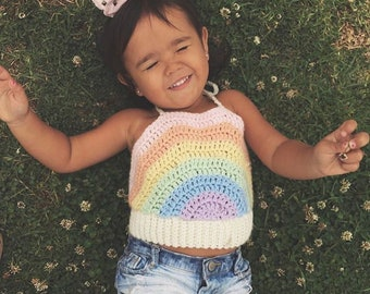 Rainbow Sherbet Crop Top