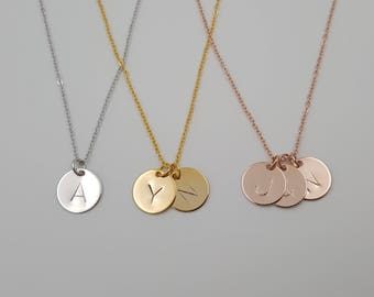 Tiny initial pendant Necklace,Personalized Initial Necklace,Monogram Necklace, Name Initial Necklace, gifts for mother .