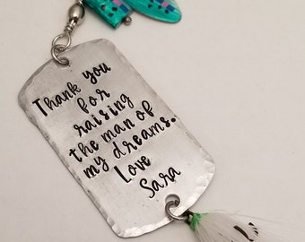 Personalized Hand Stamped Fishing Lure - Wedding Groomsmen Gifts - Fathers Boyfriend Grandfather Dad Gifts - Men's Gifts - Fishing Tackle