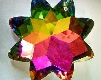 5 Vitrail Rainbow Star Chandelier Crystal 38mm Prism Faceted Wedding Crystals