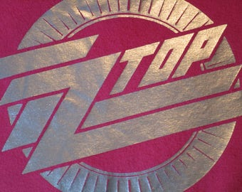 ZZ-Top Shirt. Vintage T-shirt. Women's Top. 80's. Retro Red. Women's Large. Eliminator Album. Concert. Festival Top. Chic Urban Streetwear.