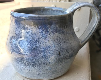 Handmade Blue and Green Tea or Espresso Cup
