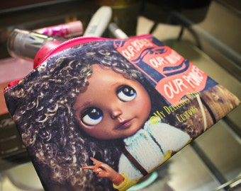 Harper Blythe Custom Full Color Printed 2 Sided Cosmetics Pouch Womans March 2017 Tribute