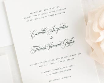 Camille Wedding Invitations - Sample