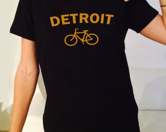 Detroit Logo Bicylce Castle Rock Tv Series Inspired. Male and Female T-shirt