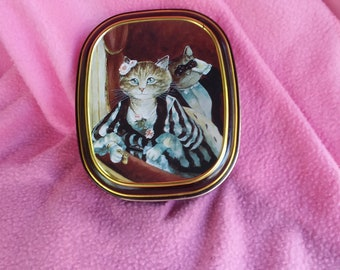 Vintage Candy Tin Bentleys of London The Cats Gallery, Kitty Cat Tin, The Loge, Renoir