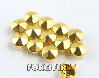 300Pcs 10mm Gold hexagon CONE Studs Metal Studs (JHC10)
