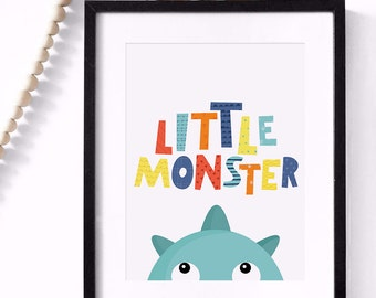 Best selling items, nursery decor, wall art, top seller, Little Monster print, kids print, nursery wall print, nursery print, mini learners