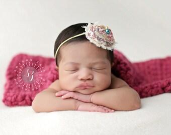 Raspberry Pink Baby Blanket Newborn Photography Prop