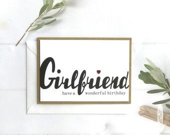 Birthday Card Girlfriend Handmade Personalised Custom Gifts Gift Cards For Her