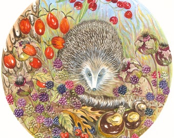 Hedgehog - Hotpress Giclee Print