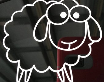 Vinyl Decal, Sheep - Two Sizes
