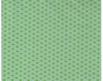 HALF YARD - STOF Fabrics - Asanoha Design Green Colorway - Quilters Basic Harmony Collection 4520-806