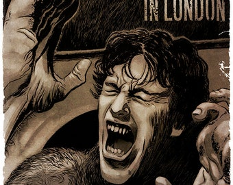An American Werewolf in London movie poster full colour art print