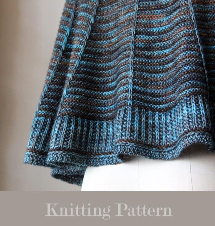 knitting pattern, knit pattern, shawl pattern, knit shawl pattern ...