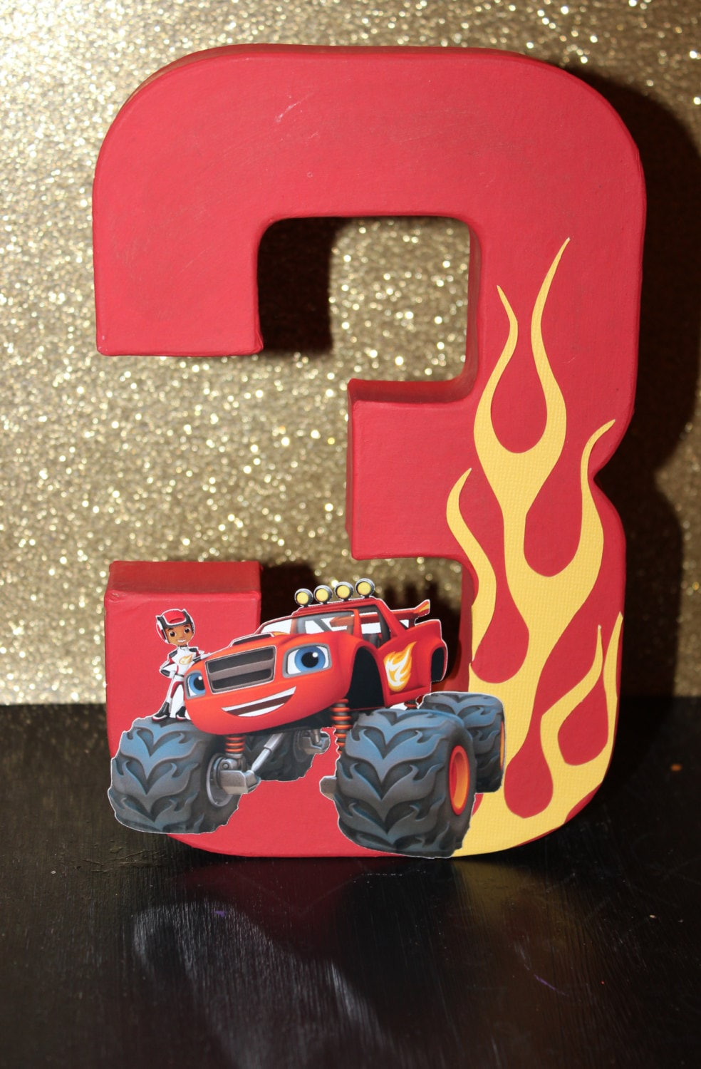 Blaze And The Monster Machine Inspired Cake Topper Blaze And