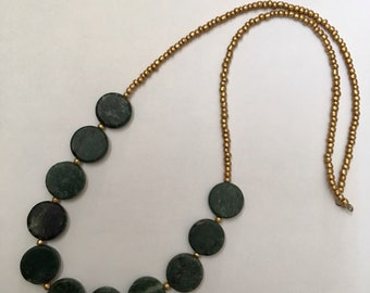 Green Marble Long Necklace