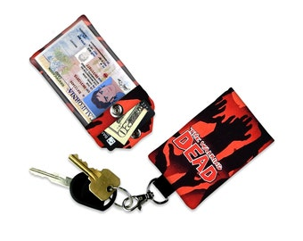 Walking Dead Zombie ID Wallet, Mini Wallet, Lanyard ID Holder, Luggage Tag, Vacation ID Wallet