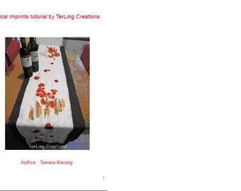 PDF natural prints tutorial, eco print, botanical printing learning, fabric drawing tutorial, leaves prints learning, natural color fabric,
