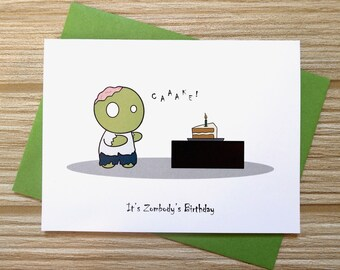 Zombie birthday card etsy zombie birthday card bookmarktalkfo Images