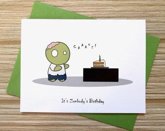 Zombie birthday card etsy zombie birthday card bookmarktalkfo Choice Image